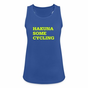 Hakuna some cycling - Frauen Tank Top atmungsaktiv