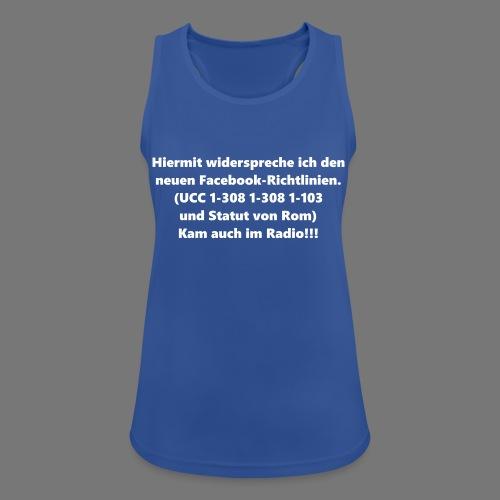 Facebook-AGB - Männer - Frauen Tank Top atmungsaktiv