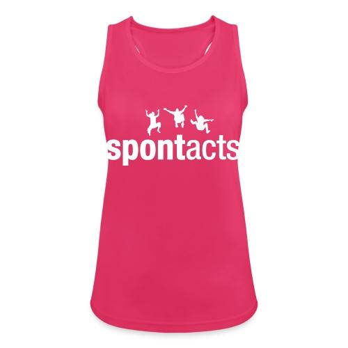 spontacts_Logo_weiss - Frauen Tank Top atmungsaktiv