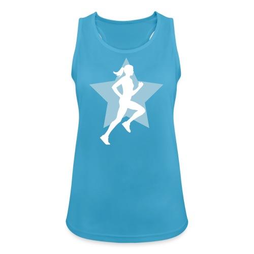 running woman star - Frauen Tank Top atmungsaktiv