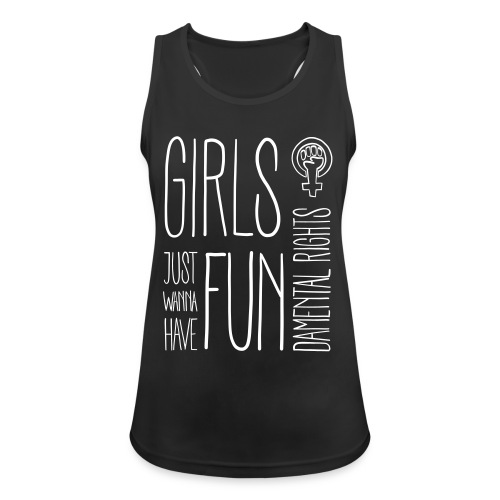 Girls just wanna have fundamental rights - Frauen Tank Top atmungsaktiv