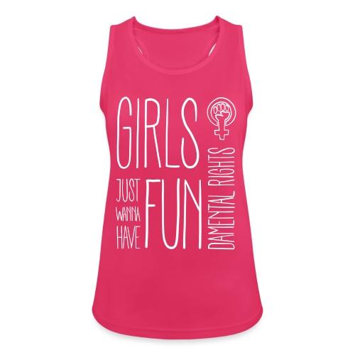 Girls just wanna have fundamental rights - Frauen Tank Top atmungsaktiv
