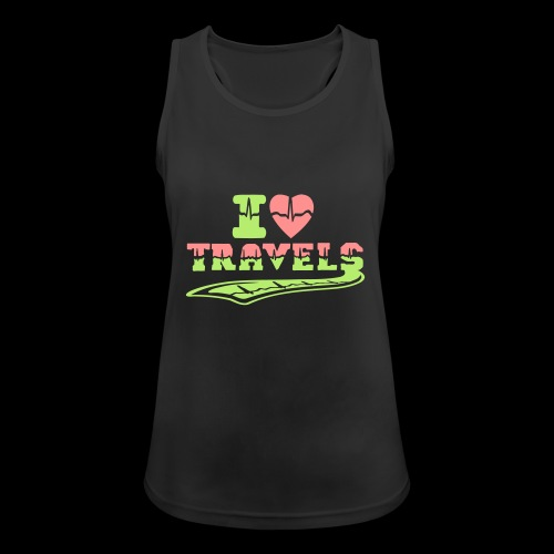 i love travels surprises 2 col - Women's Breathable Tank Top
