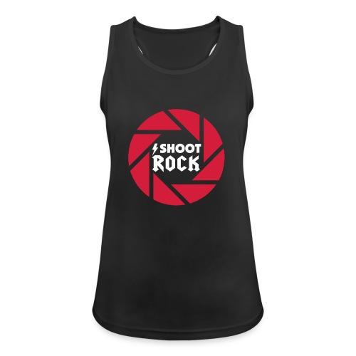 I shoot Rock (white) - Frauen Tank Top atmungsaktiv