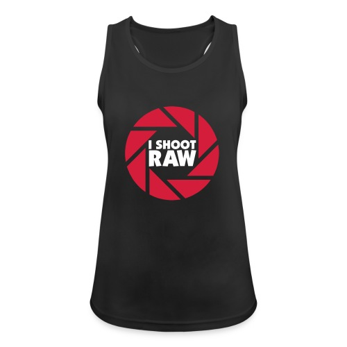 I shoot RAW - weiß - Frauen Tank Top atmungsaktiv