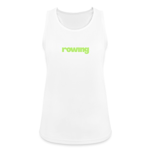 indoor rowing logo 2c - Women's Breathable Tank Top