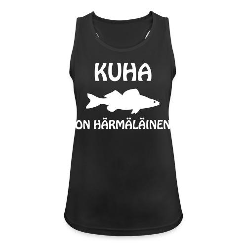 KUHA ON HÄRMÄLÄINEN - Naisten tekninen tankkitoppi
