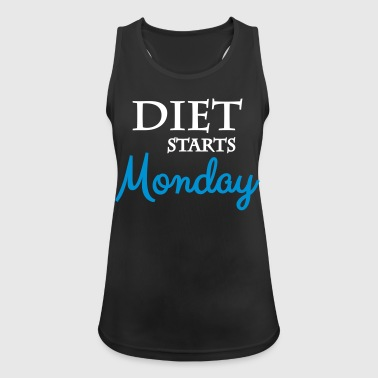 Diet starts monday - Women's Breathable Tank Top