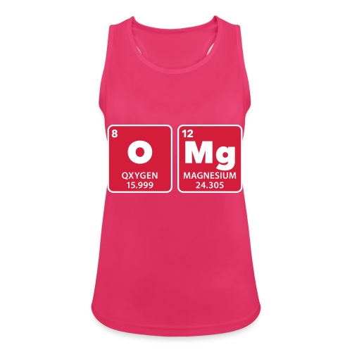 periodic table omg oxygen magnesium Oh mein Gott - Women's Breathable Tank Top