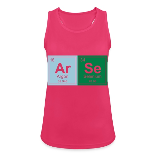 Geeky Arse Periodic Elements - Women's Breathable Tank Top