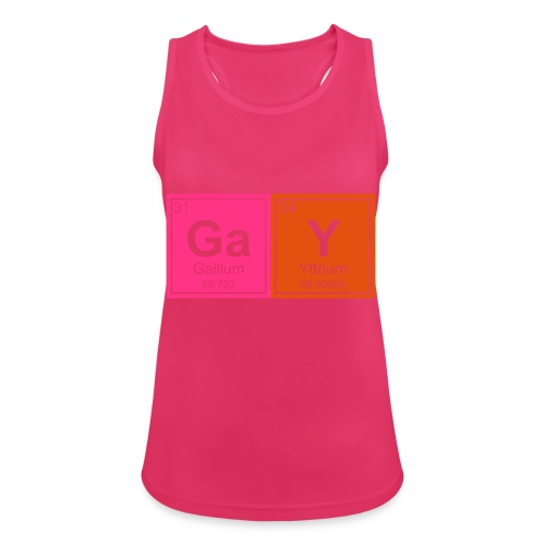 Geeky Gay Periodic Elements - Women's Breathable Tank Top