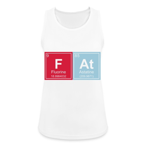Geeky Fat Periodic Elements - Women's Breathable Tank Top