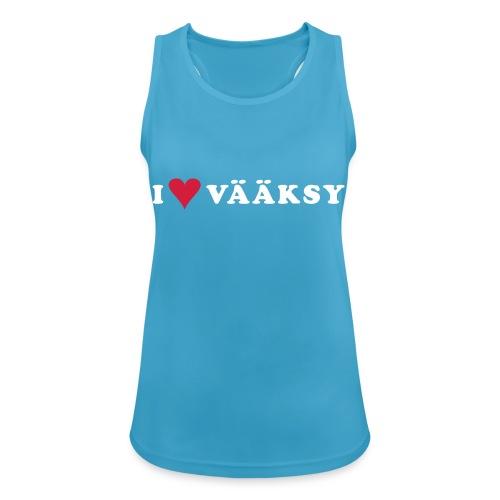 I LOVE VAAKSY - Naisten tekninen tankkitoppi