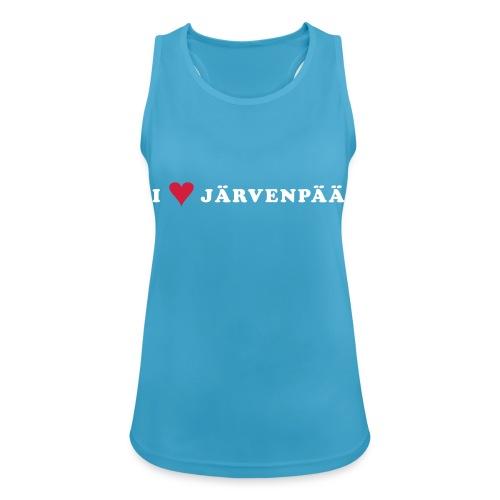 I LOVE JARVENPAA - Naisten tekninen tankkitoppi