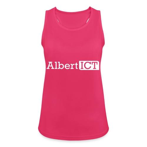AlbertICT wit logo - Vrouwen tanktop ademend