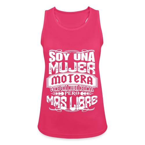 Soy una mujer motera - Camiseta de tirantes transpirable mujer