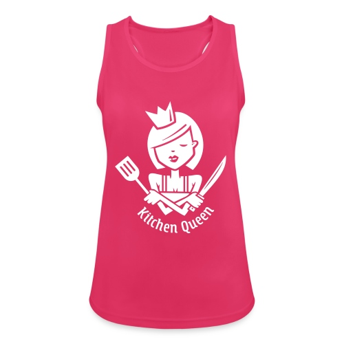 VL126_KitchenQueen_1c_inv - Frauen Tank Top atmungsaktiv