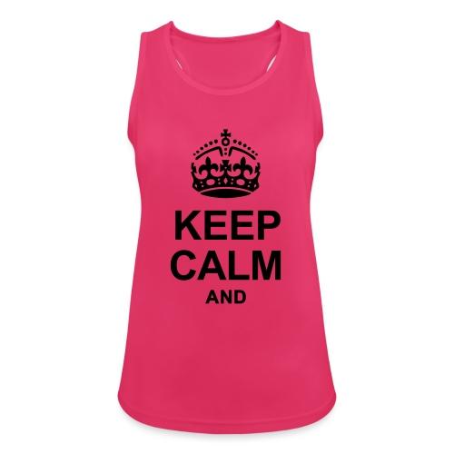 KEEP CALM - Women's Breathable Tank Top