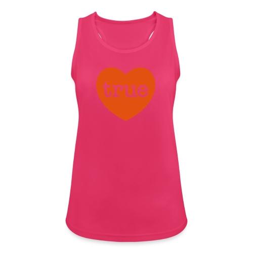 TRUE LOVE Heart - Women's Breathable Tank Top