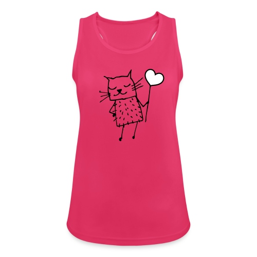 Katze mit Herz: Liebe - Frauen Tank Top atmungsaktiv