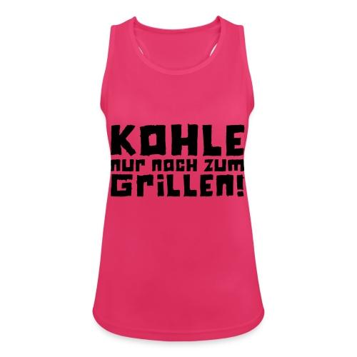 Kohle nur noch zum Grillen - Logo - Frauen Tank Top atmungsaktiv