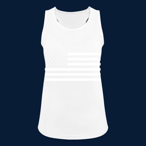 Stars and Stripes White - Frauen Tank Top atmungsaktiv