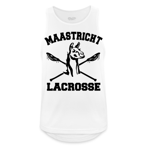 Maastricht Lacrosse - Black - Mannen tanktop ademend