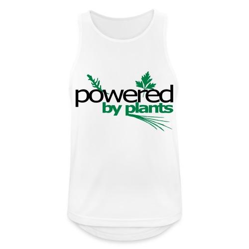 POWERED BY PLANTS - Männer Tank Top atmungsaktiv