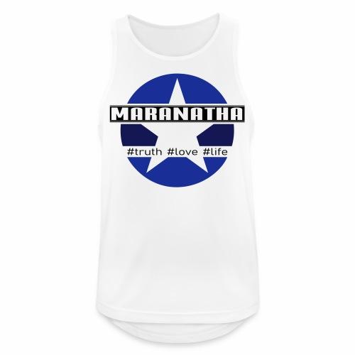 maranatha blau-braun - Männer Tank Top atmungsaktiv
