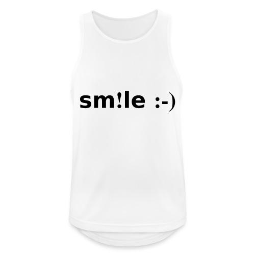 smile - sorridi - Canotta da uomo traspirante