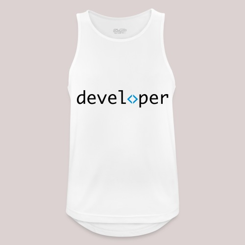 developer, coder, geek, hipster, nerd - Männer Tank Top atmungsaktiv