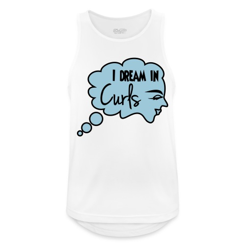 I Dream In Curls - Men's Breathable Tank Top