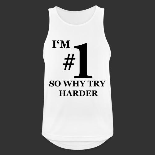 T-shirt, I'm #1 - Andningsaktiv tanktopp herr