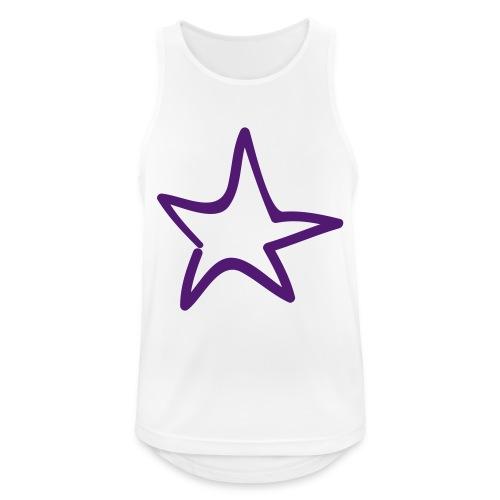 Star Outline Pixellamb - Männer Tank Top atmungsaktiv