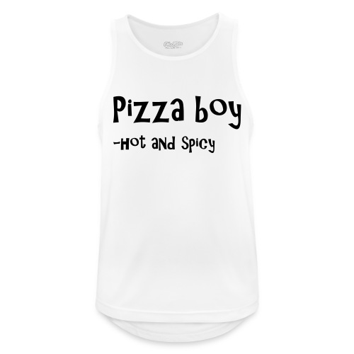 Pizza boy - Pustende singlet for menn