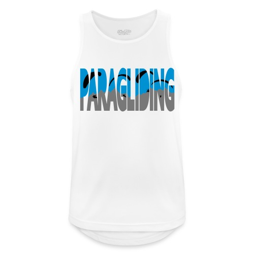 Paragliding Letters - Men's Breathable Tank Top