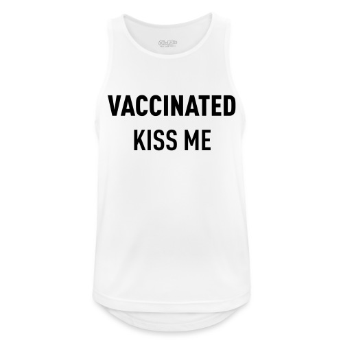Vaccinated Kiss me - Men's Breathable Tank Top