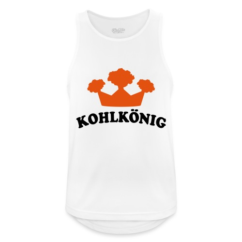 t-shirt bedrucken mit grünkohl motiv kohlkönig - - Männer Tank Top atmungsaktiv