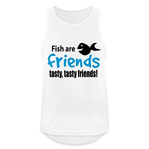 Fisk er venner - Pustende singlet for menn
