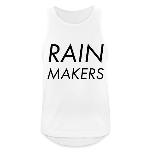rainmakertext - Miesten tekninen tankkitoppi