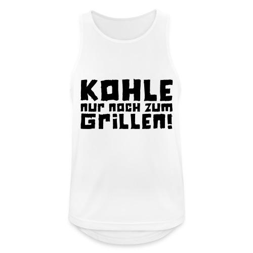 Kohle nur noch zum Grillen - Logo - Männer Tank Top atmungsaktiv