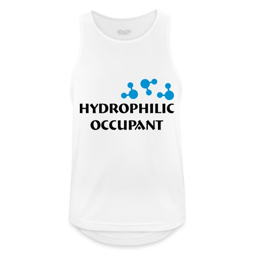 Hydrophilic Occupant (2 colour vector graphic) - Men's Breathable Tank Top
