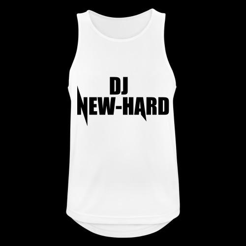 DJ NEW-HARD LOGO - Mannen tanktop ademend actief