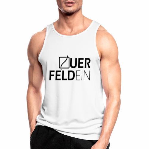 Querfeldein Logo - Männer Tank Top atmungsaktiv