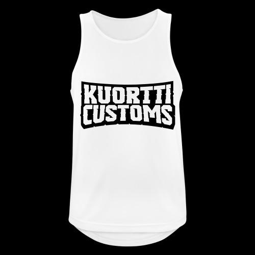 kuortti_customs_logo_main - Miesten tekninen tankkitoppi