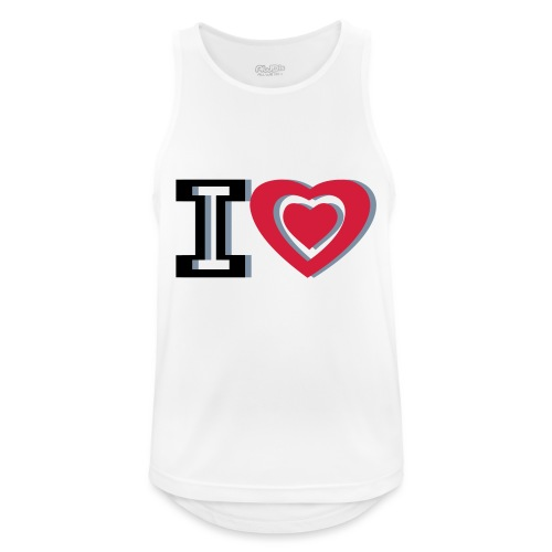 I LOVE I HEART - Men's Breathable Tank Top