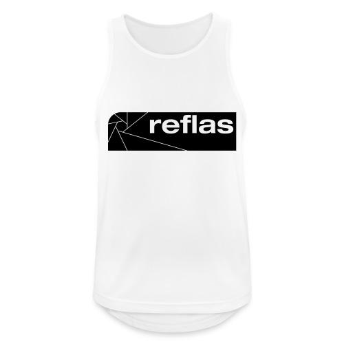 Reflas Clothing Black/Gray - Canotta da uomo traspirante