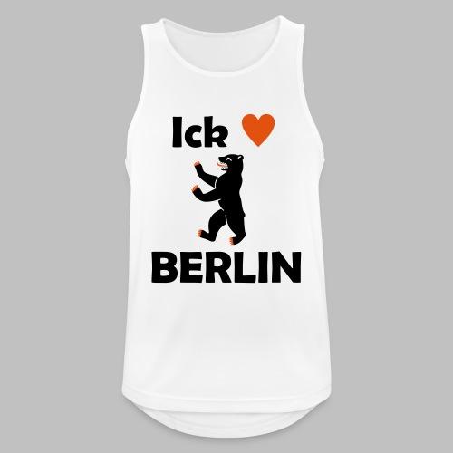 Ick liebe ❤ Berlin - Männer Tank Top atmungsaktiv