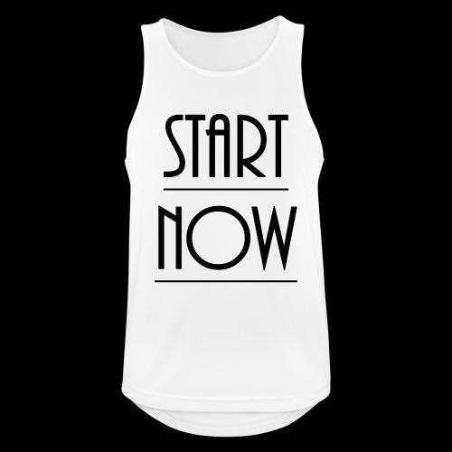 start now - Männer Tank Top atmungsaktiv