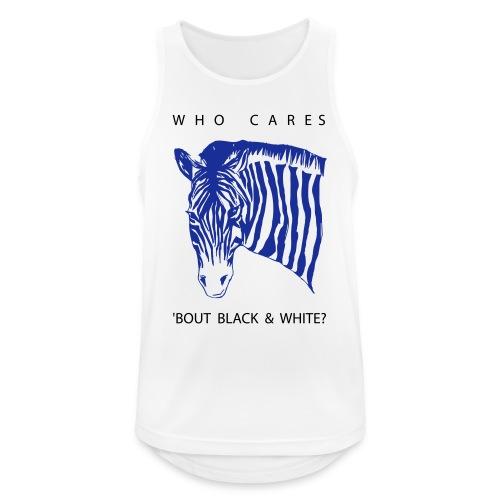 Zebra Who Cares? - Männer Tank Top atmungsaktiv